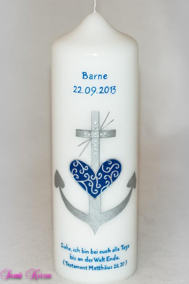 Taufkerze Glaube Liebe Hoffnung