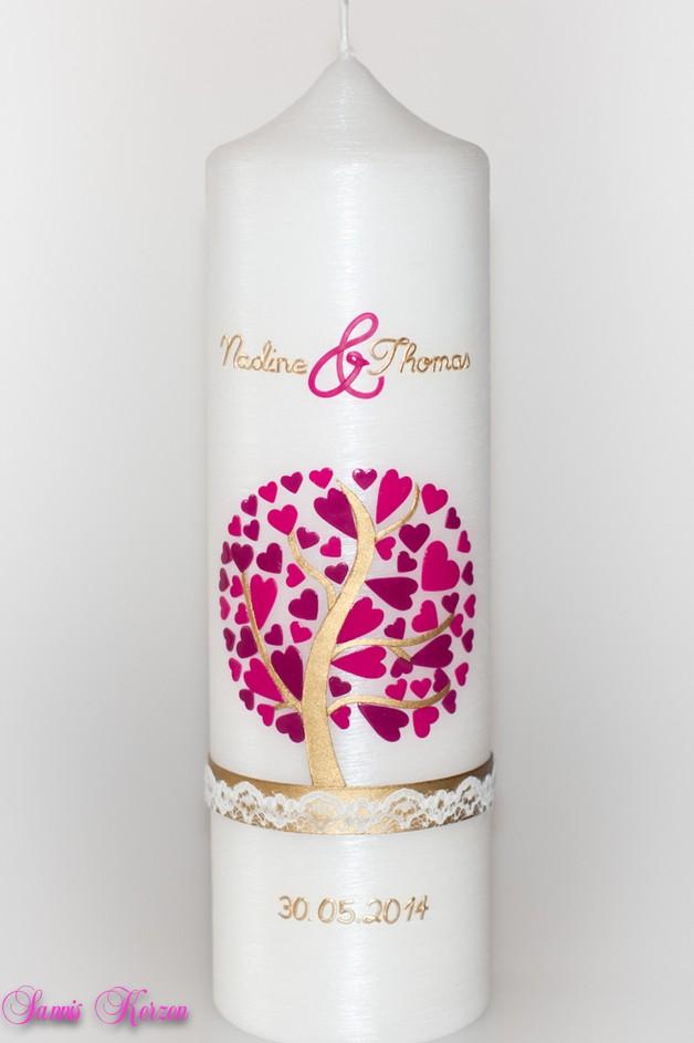 Hochzeitskerze Herzbaum Perlmutt für nur 41,36€