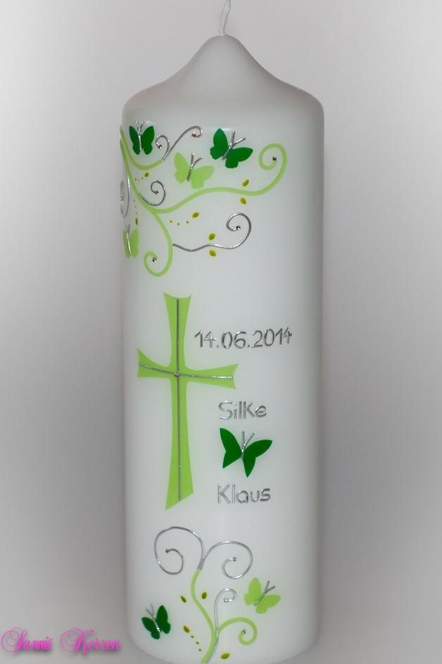 """Hochzeitskerze """"S&P"""" mit Kreuz für nur  26,33€"""