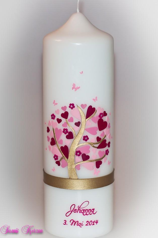 Taufkerze Herzbaum für nur  45,36€
