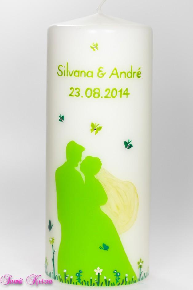 Hochzeitskerze Brautpaar Schmetterlinge für nur 40,10€