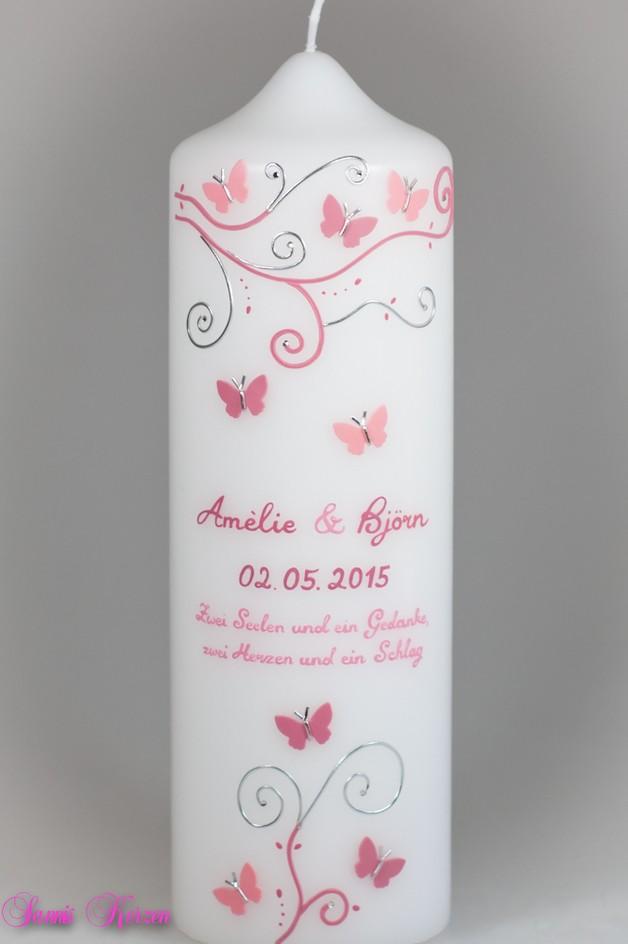 """Hochzeitskerze """"S&P"""" mit Trauspruch für nur  33,33€"""