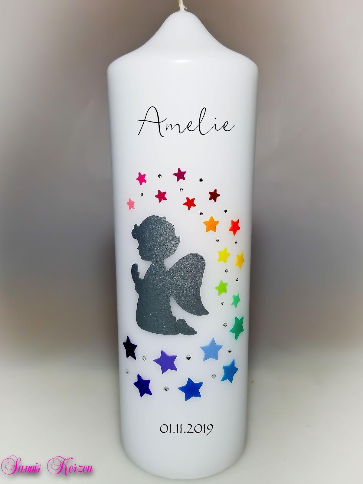 Kerze mit Sternenschweif in der Farbe weiß  für nur  24,30€