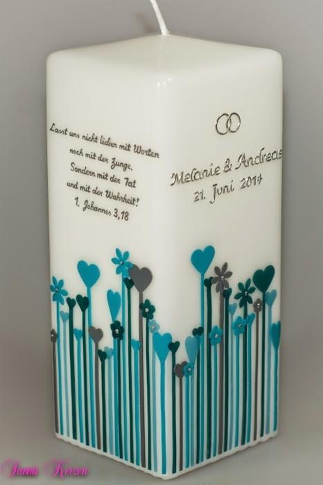 Taufkerze Herwiese viereckig mit Spruch in der Farbe weiß  für nur 55,71€