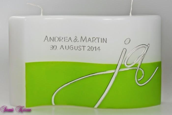 """Hochzeitskerze """"Wir sagen Ja"""" in der Farbe weiß  für nur 54,00€"""