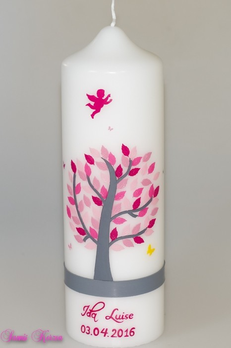 Blätterbaum mit Schmetterlingen & Engel in der Farbe weiß  für nur  42,36€