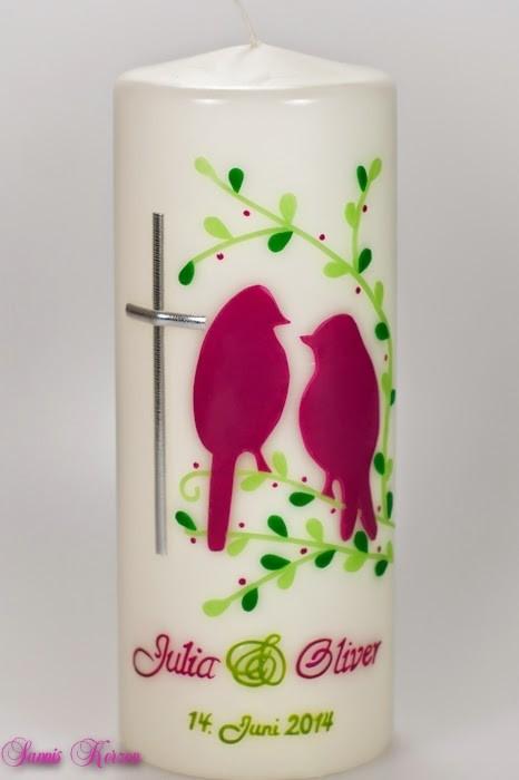 """Hochzeitskerze """"Vogelhochzeit"""""""
