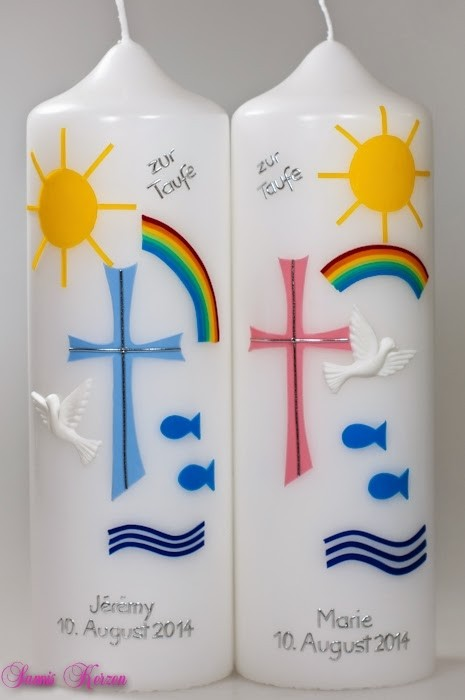 """Taufkerze """"Zeichen & Meer"""" für Zwillinge für nur  60,00€"""