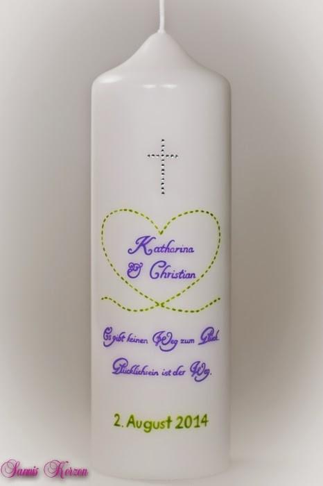 """Hochzeitskerze """"Herzlinie"""" in der Farbe weiß  für nur 37,00€"""