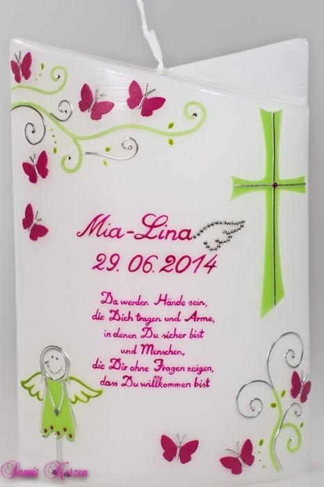 """Taufkerze """"Lahja"""" doppelt oval abg. in der Farbe weiß  für nur 49,00€"""