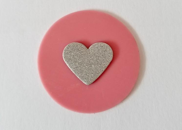 freie Farbwahl großer Wachs-Kreis mit Herz für nur 1,62€