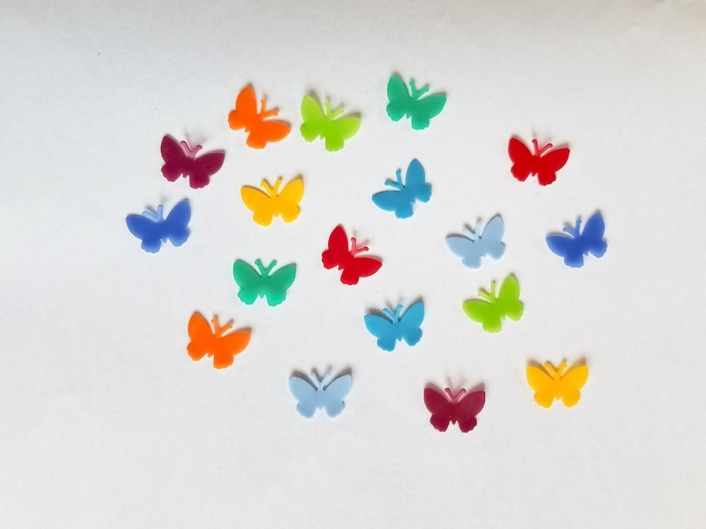 Regenbogen 18 Wachs-Schmetterlinge klein für nur  4,50€
