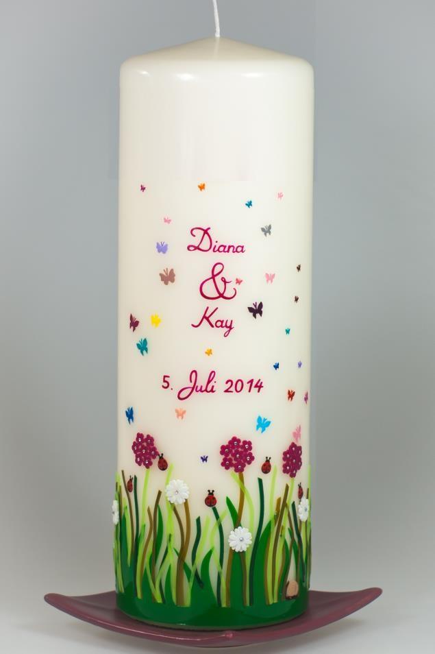 Hochzeitskerze Frühlingswiese