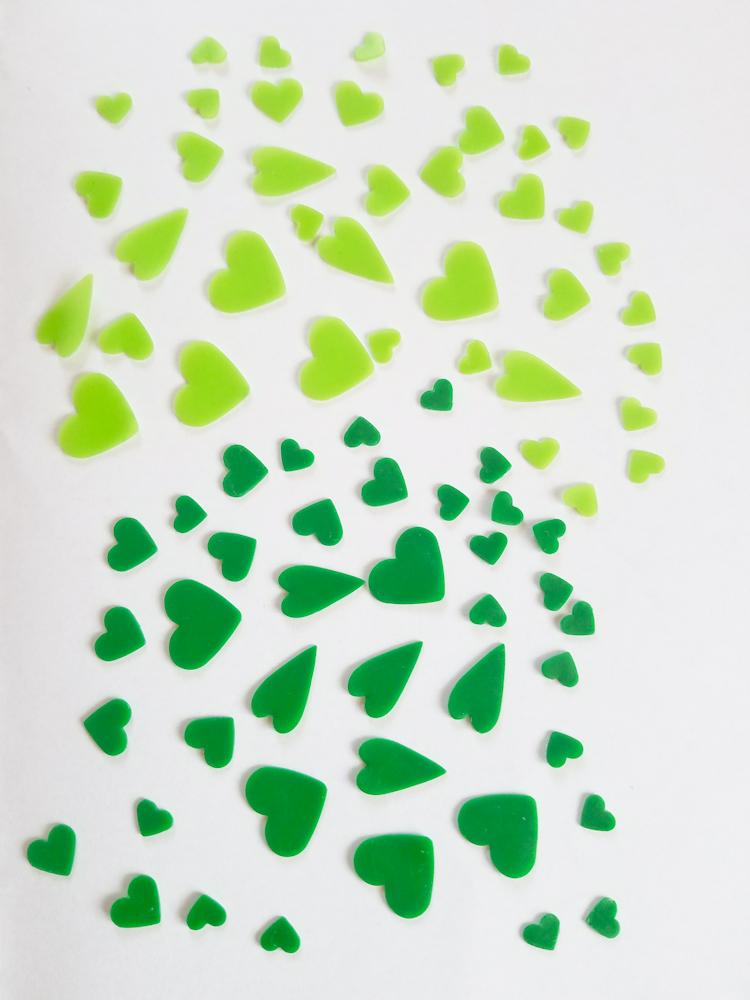 freie Farbwahl 80 Wachs-Herzen 2 Farben Mix für nur 7,20€
