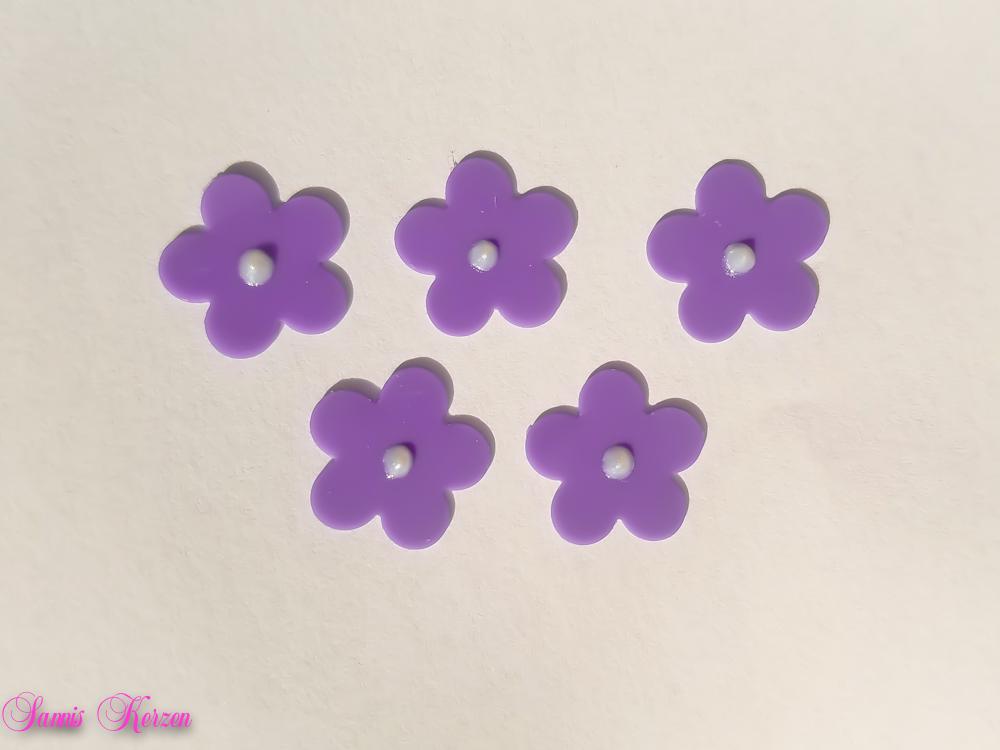 freie Farbwahl 5 Wachs-Blüten groß für nur  1,25€