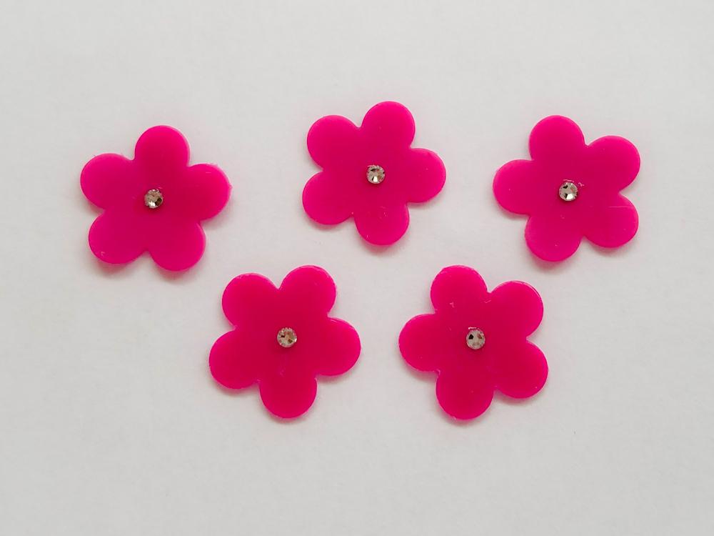 /freie Farbwahl 5 Strass Wachs-Blüten groß für nur 2,25€
