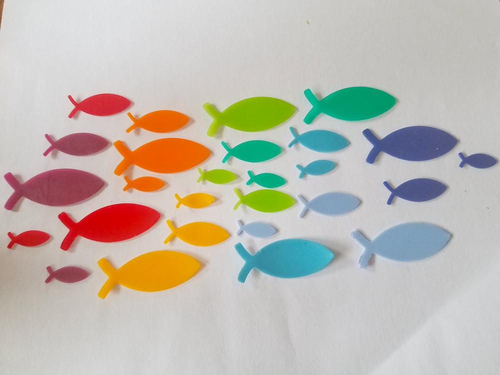 27 Wachs-Fische Regenbogen 9 Farben