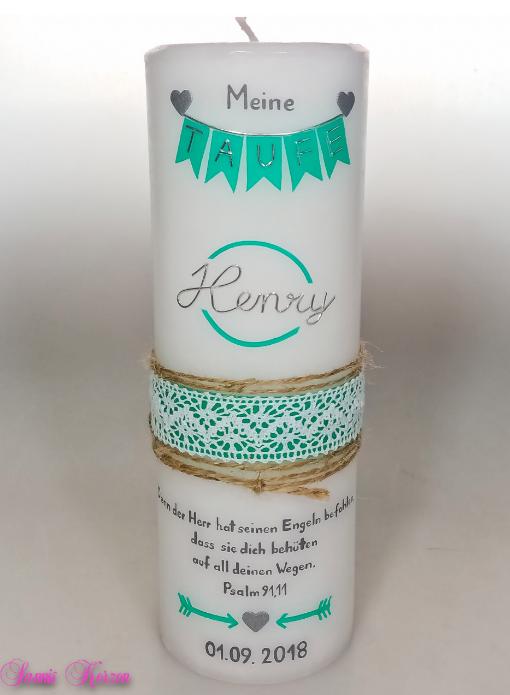 """Taufkerze """"Henry"""" in der Farbe weiß  für nur  40,50€"""