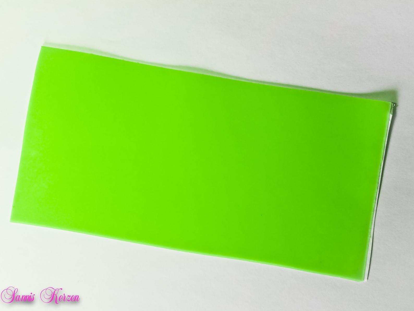 freie Farbwahl Wachsplatte für nur  1,00€