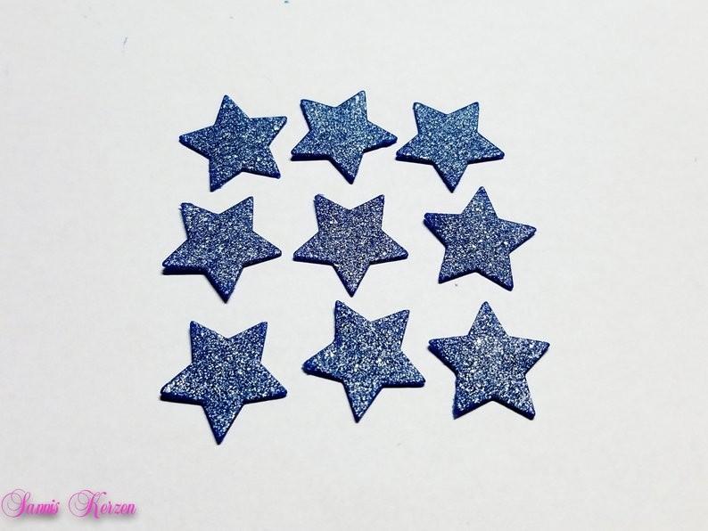 Wachs-Sterne dunkelblau-silber Glitter für nur 1,79€