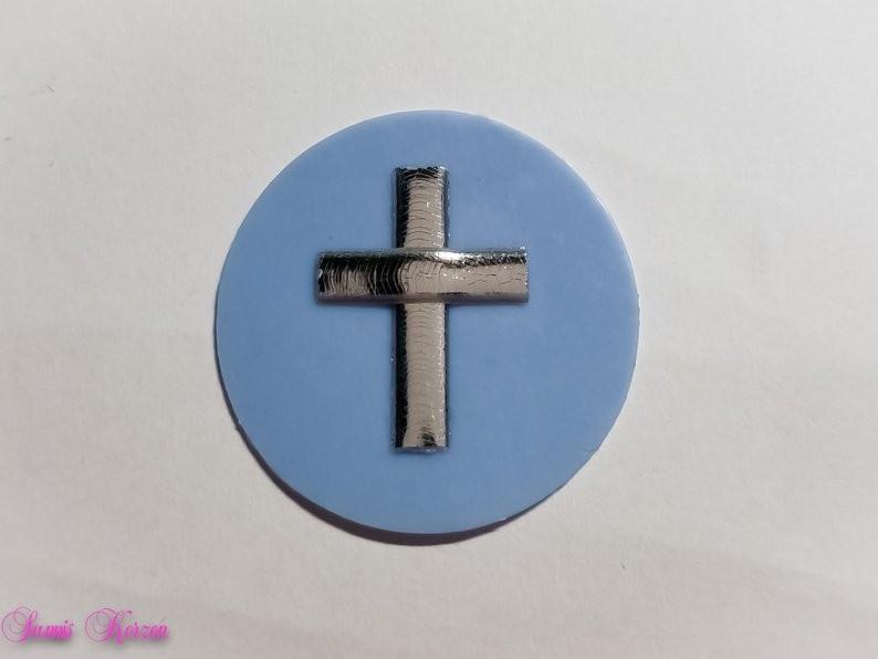 /freie Farbwahl großer Wachs-Kreis mit Kreuz for 1,76€