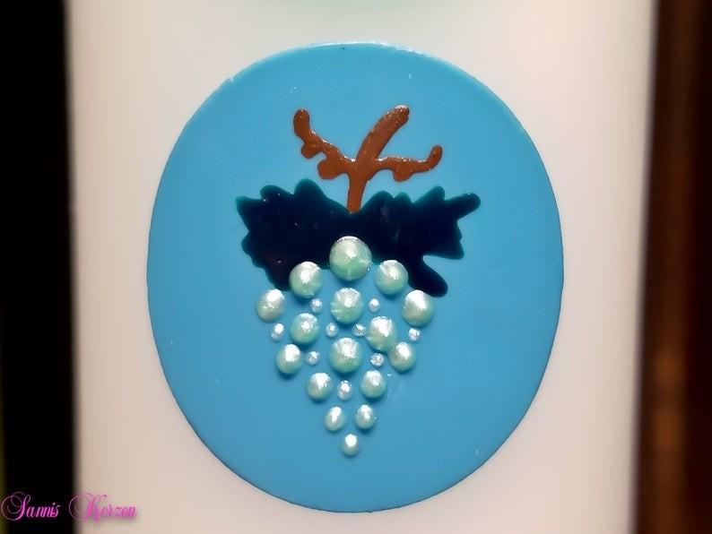 /freie Farbwahl großer Wachs-Kreis mit Traube for 2,50€