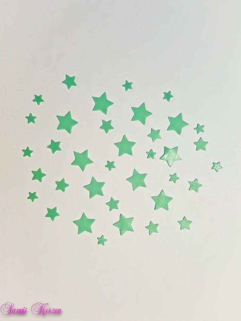 freie Farbwahl 9 kleine Wachs-Sterne für nur  1,69€