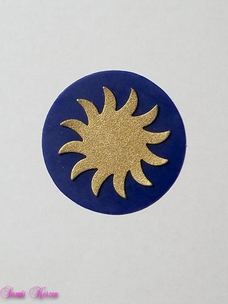 freie Farbwahl großer Wachs-Kreis mit Sonne für nur  1,66€