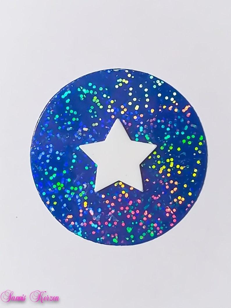 freie Farbwahl Wachs-Kreis mit Stern