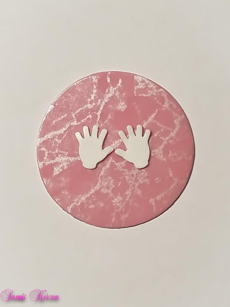 freie Farbwahl Wachs-Kreis mit Händen für nur 1,66€