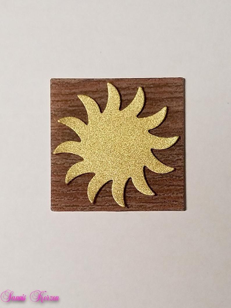 freie Farbwahl Wachs-Quadrat mit Sonne für nur 1,66€