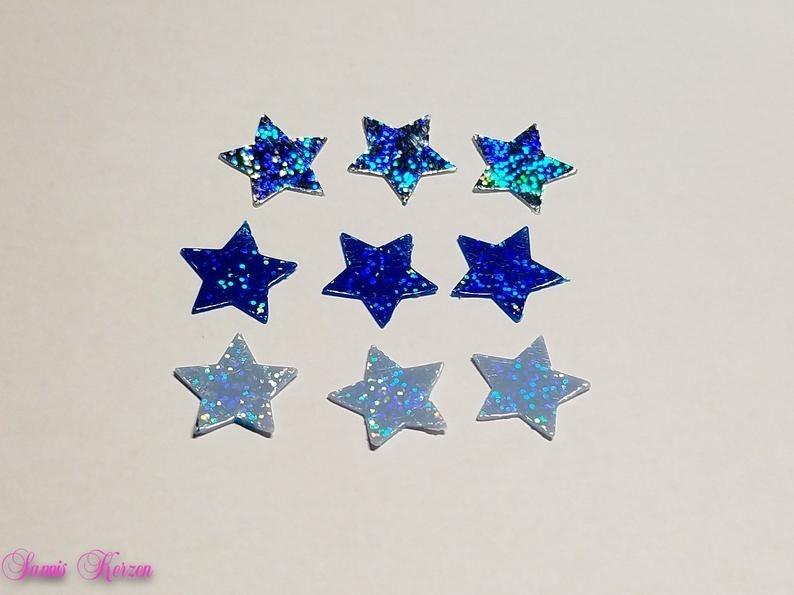 Glitzer Wachs-Sterne