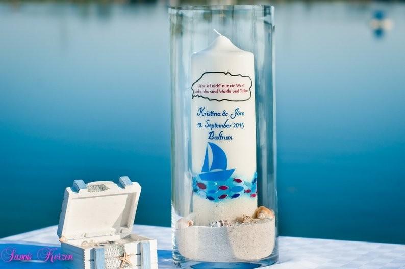 Hochzeitskerze Strandhochzeit