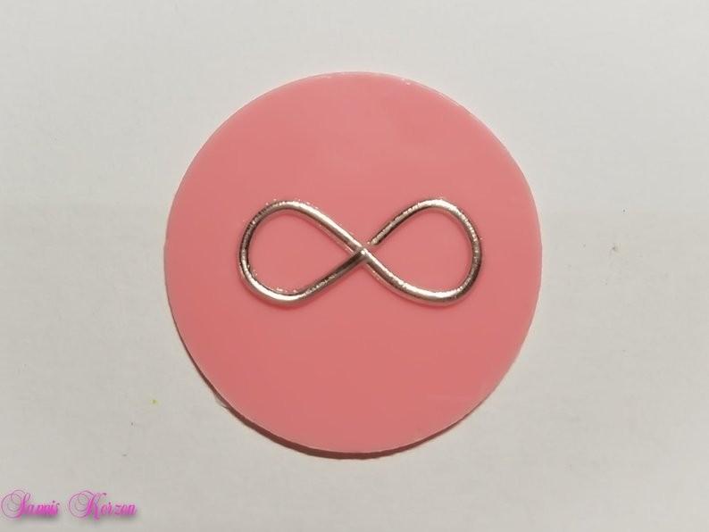 freie Farbwahl großer Wachs-Kreis mit Unendlichkeitszeichen für nur 1,70€