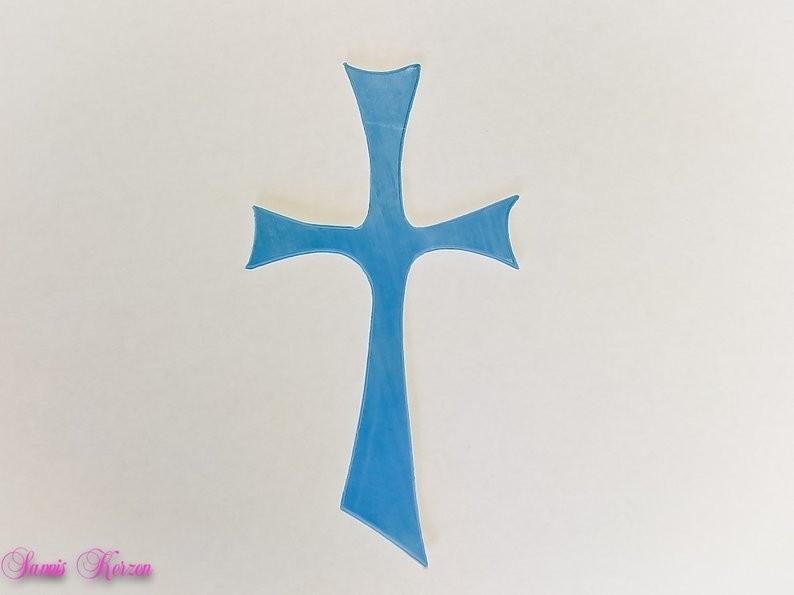 freie Farbwahl großes Wachs-Kreuz für nur  2,00€