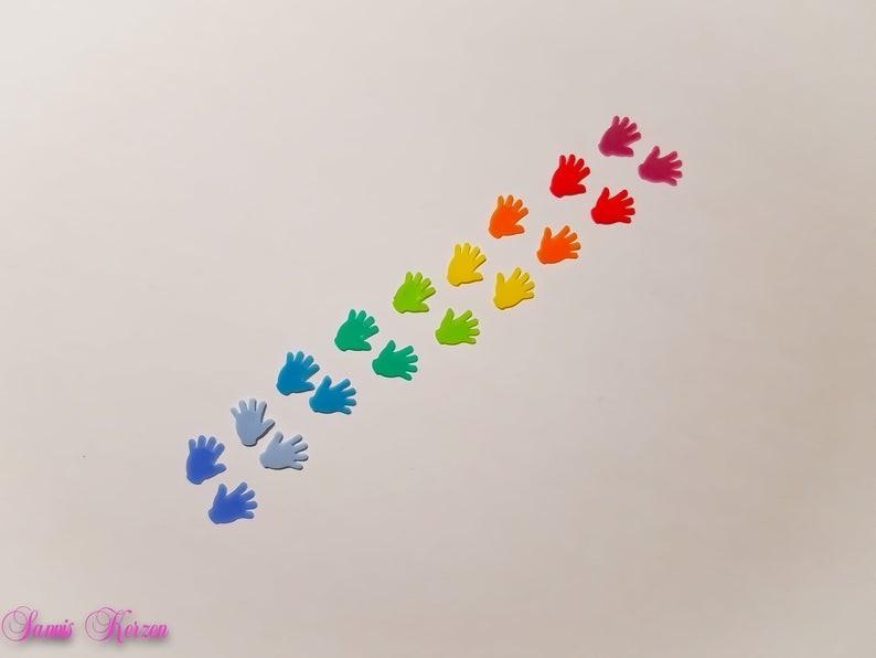Regenbogen Wachs-Hände für nur 2,25€