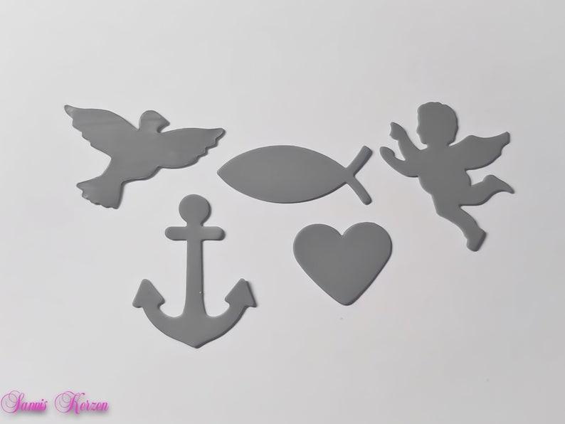 """freie Farbwahl """"Symbole""""-Set Taube Fisch Engel Herz Anker für nur  3,00€"""