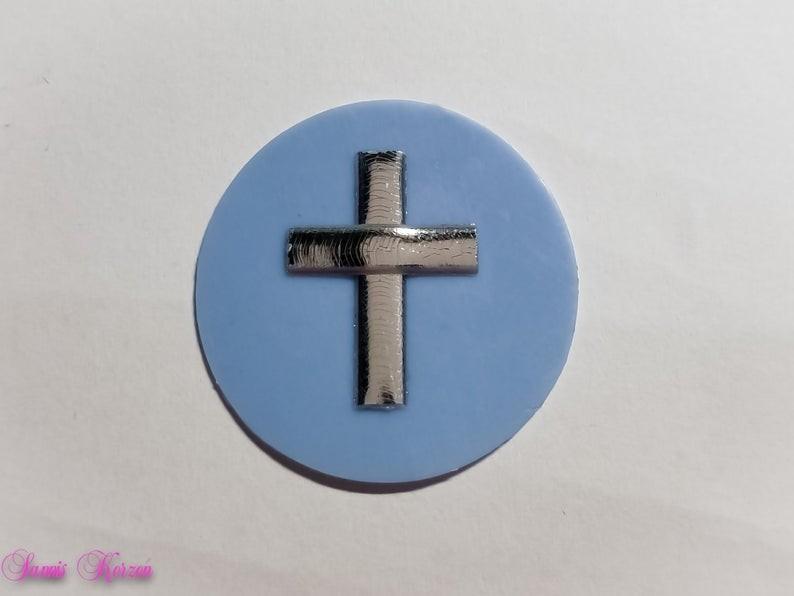 freie Farbwahl großer Wachs-Kreis mit Kreuz für nur  1,76€