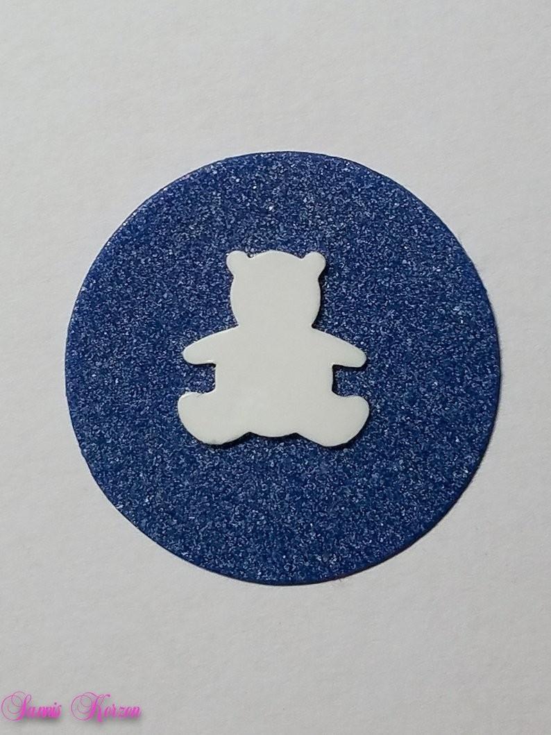 freie Farbwahl Wachs-Kreis mit Teddybär für nur  1,66€
