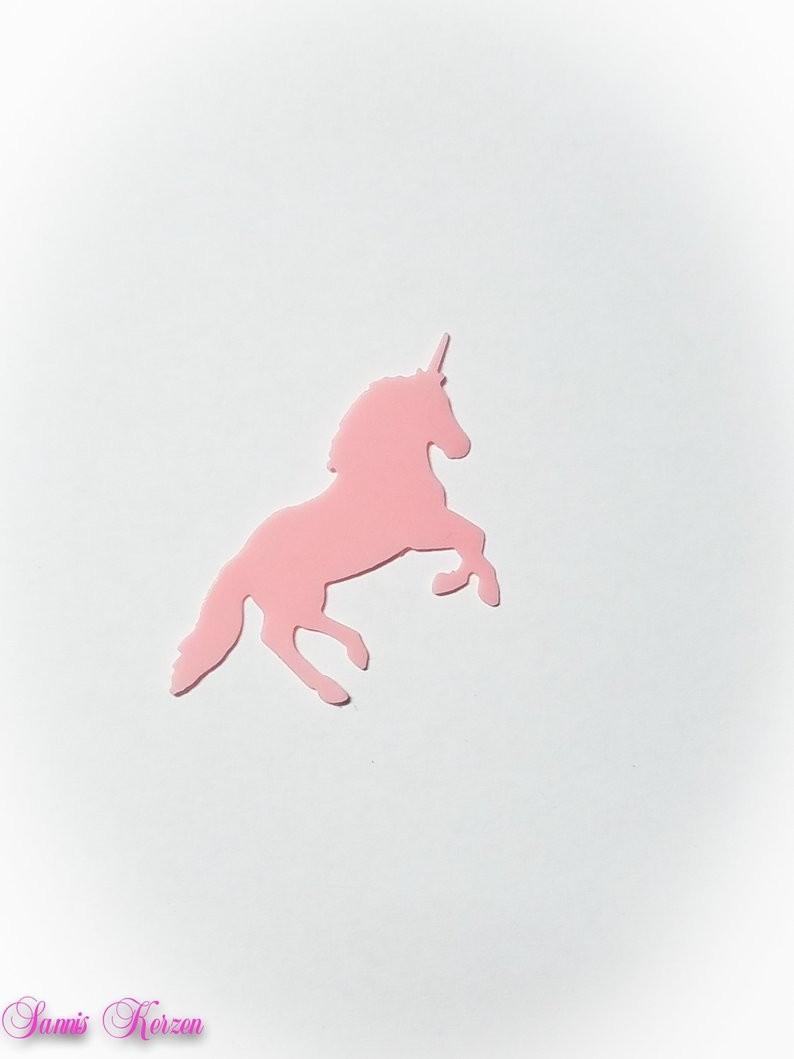 freie Farbwahl kleines Wachs-Einhorn für nur 1,00€