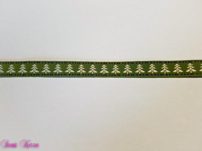 1m Dekoband Tannenbaum grün 16mm breit für nur  1,20€