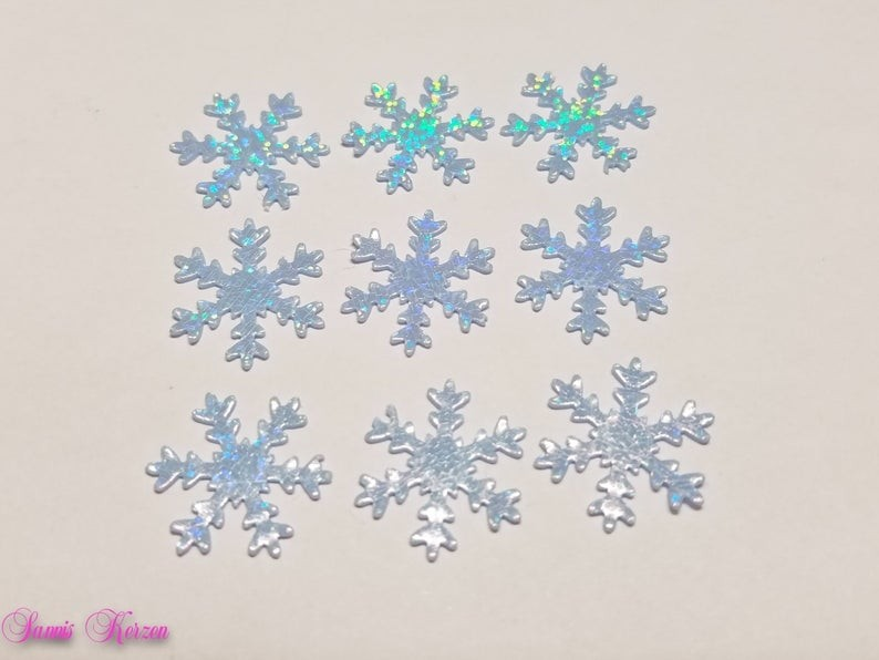 freie Farbwahl 9 Wachs-Schneeflocken für nur 1,70€