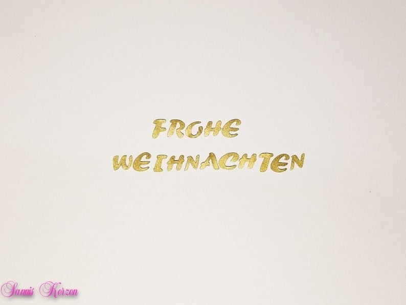 """freie Farbwahl Wachs-Buchstaben """"Frohe Weihnachten"""" für nur  5,00€"""
