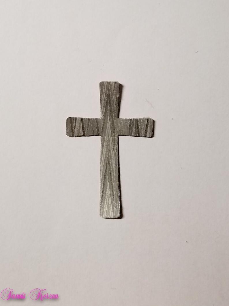 freie Farbwahl schlichtes Wachs-Kreuz für nur 1,30€