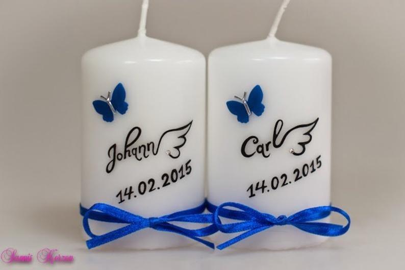 """kleine Gedenkkerze """"Flügel"""" in der Farbe weiß  für nur 10,00€"""