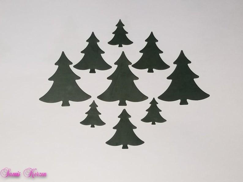 freie Farbwahl Wachs-Bäume in 3 Größen für nur 1,50€