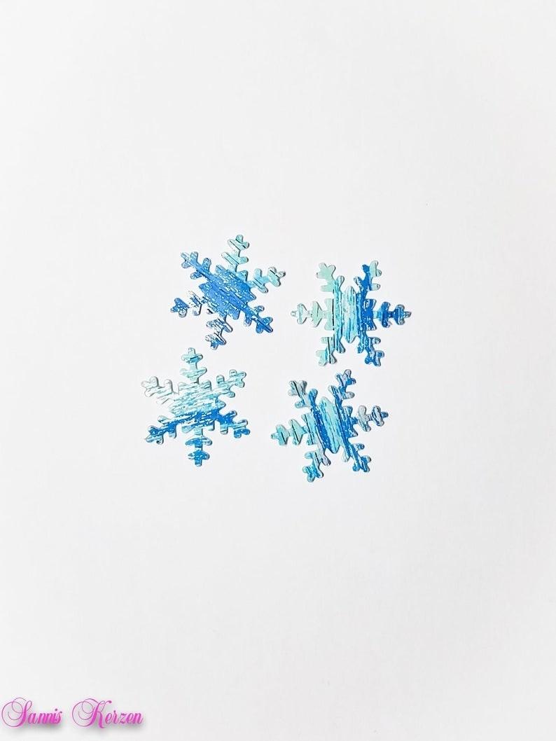 freie Farbwahl 4 große Wachs-Schneeflocken für nur  1,70€