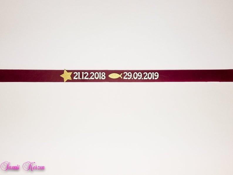 Datenbanderole für Kerzen Geburtsdatum Taufdatum für nur  4,00€