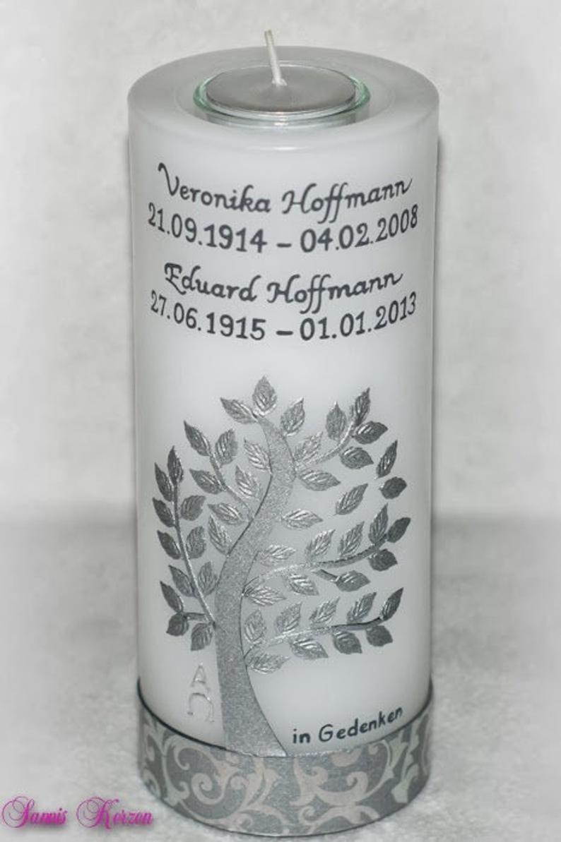 """Gedenkkerze mit Teelichteinsatz """"Baum"""" in der Farbe weiß  für nur 42,36€"""