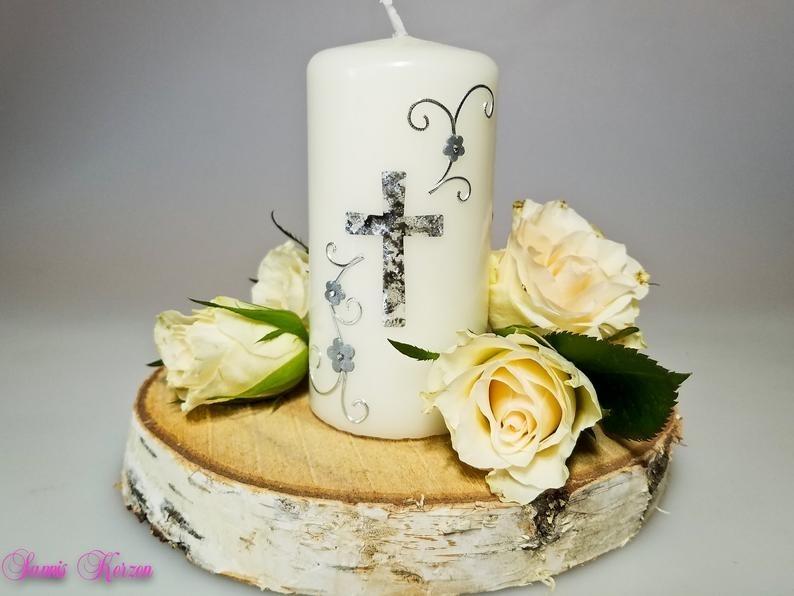 kleine Gedenkkerze Kreuz für nur 10,00€